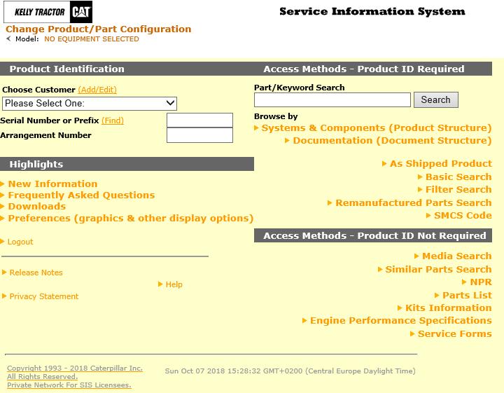Caterpillar SIS 2019 (Service Information System)